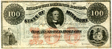 Missouri, The State of Missouri Defence Bond, $100, 186_