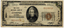 Alabama-Anniston, The First National Bank of Anniston $20, 1929
