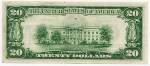 Federal Reserve Note $20, 1928, Atlanta FR. 2050-F