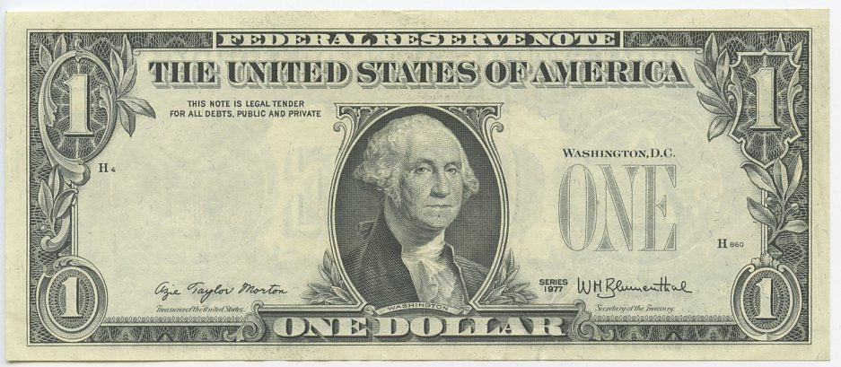 U.S. $1 Federal Reserve Note, 1977, FR. 1909 ?