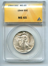 1944, W.L. 50 Cents, Anacs MS65