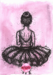 artbrush 'Scribble Ballerina' print * RETIRED PRINT ONLY AVAILABLE ONLINE *