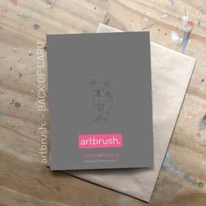 artbrush 'Gum Leaves' card
