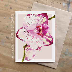 artbrush 'Orchid' card