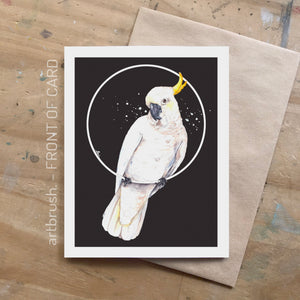 artbrush 'Cockatoo' card