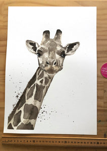 artbrush 'Bridge Giraffe' ORIGINAL