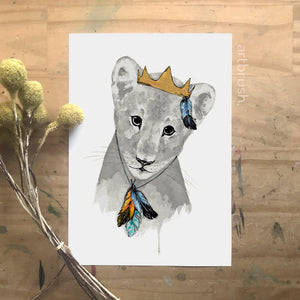 artbrush 'The Little Royal' print