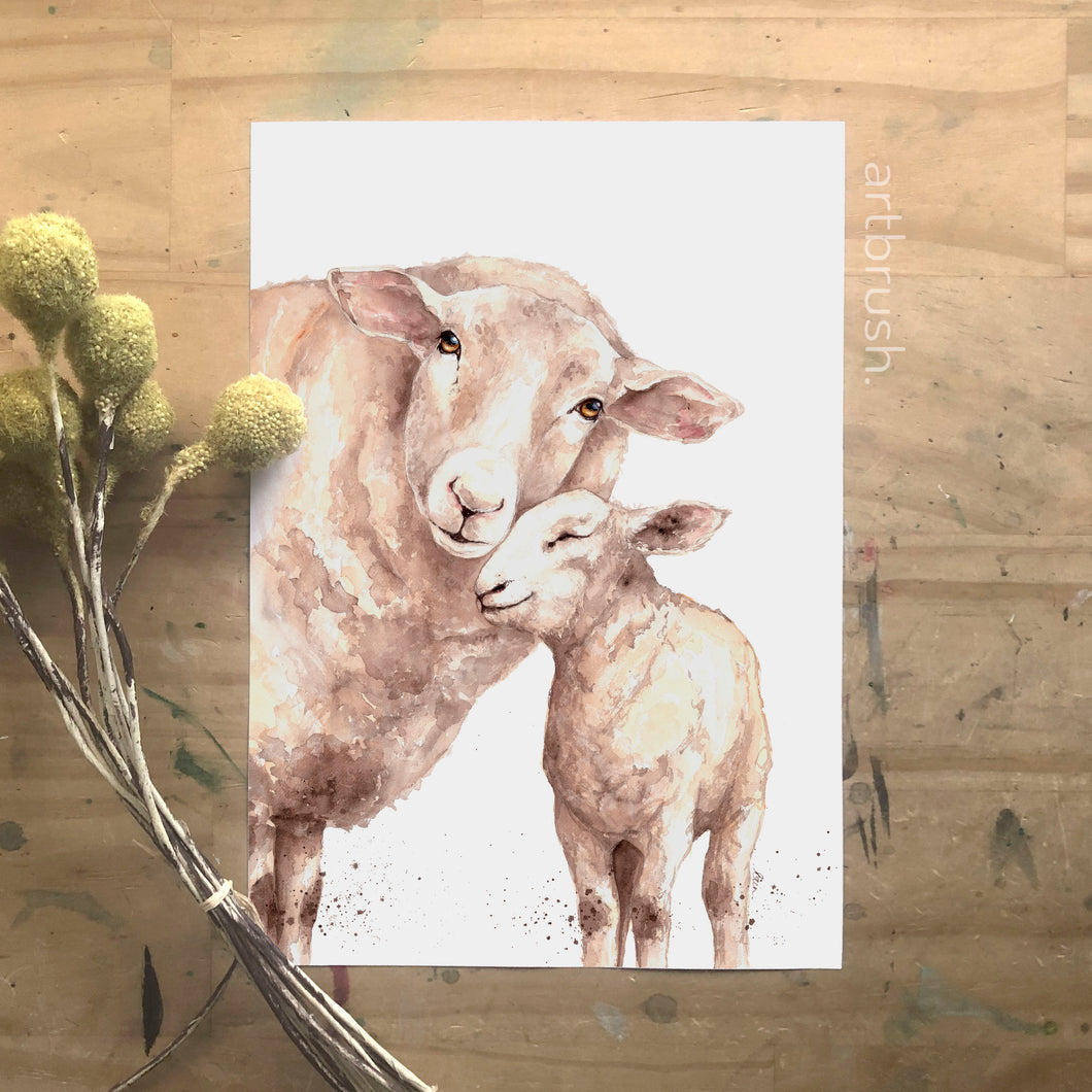 artbrush 'Mother's Day 2020' print (sheep)