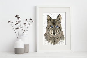 artbrush 'Spirit Wolf' print * RETIRED PRINT ONLY AVAILABLE ONLINE *