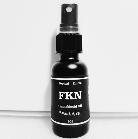 FKN Hemp Extract Oil Topical- 400mg -From Organic Non-GMO Cali Hemp
