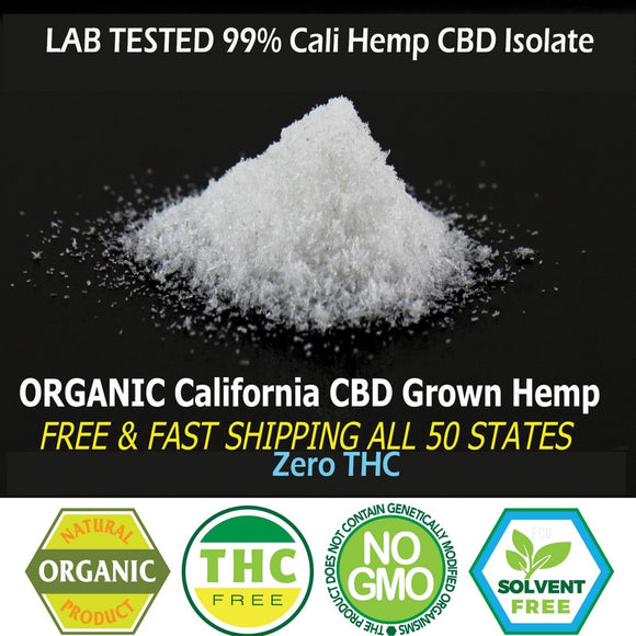 California 99% Hemp Extract Isolate - FREE SHIPPING - LAB TESTED -