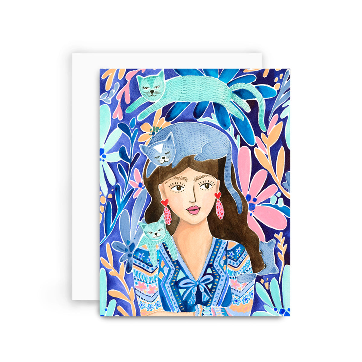 Crazy Cay Lady Greeting Card