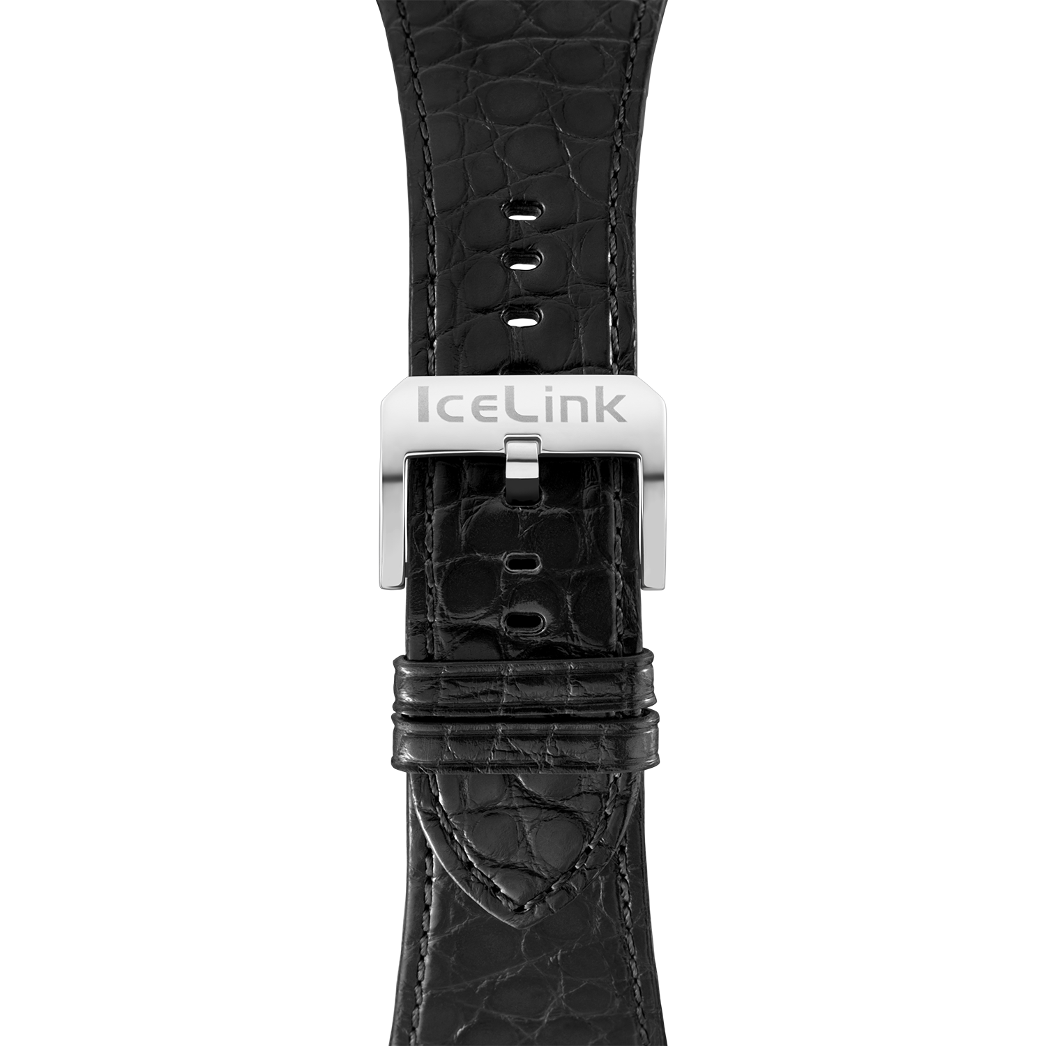 Black Croco 34MM Watch Band
