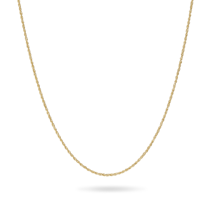 14K Gold Light Solid Rope Chain 1.75mm