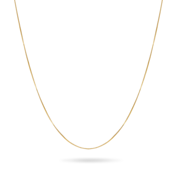 14K Solid Gold Box Chain