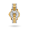 Clasp and back plate of Diamond Gold & Black Two-Tone Cortina Watch