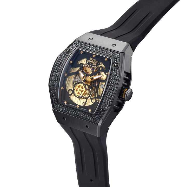 Alpha C-23 Black & Gold Diamond Watch