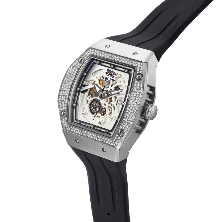 Alpha C-23 Steel & White Diamond Watch