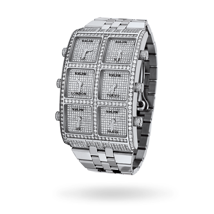12.25ct 6 Time Zone Watch