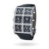 Nocturne Black 1.5ct 6 Time Zone Watch - IceLink