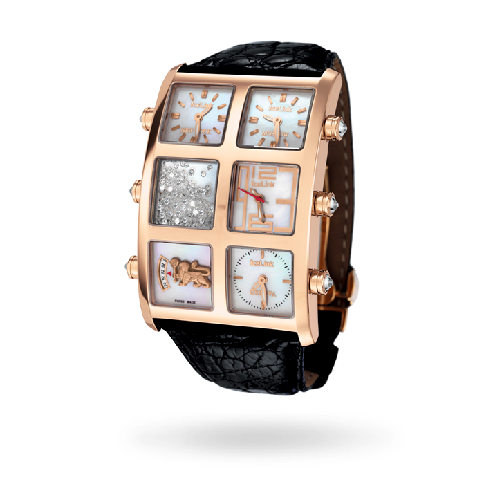 Marco 18K Rose Gold 1.25ct Watch - IceLink