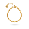 Gold PVD Bead Bracelet 3mm