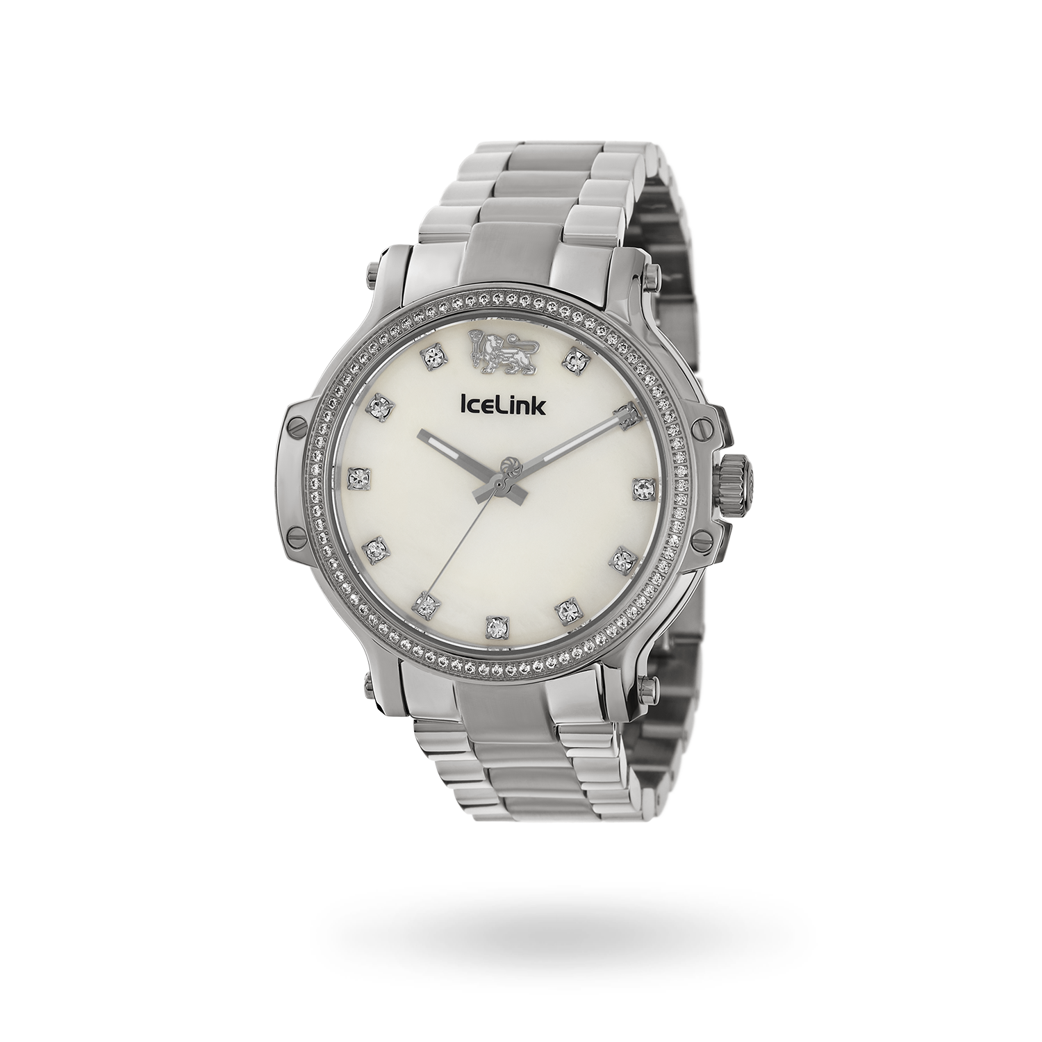 Diamond Steel & White Cortina Watch face