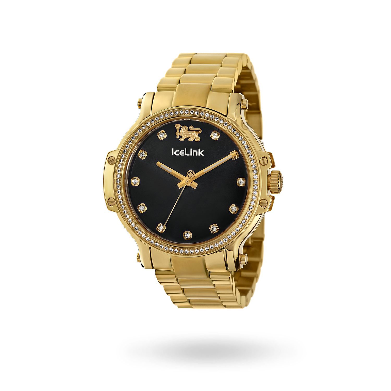 Diamond Gold & Black Cortina Watch