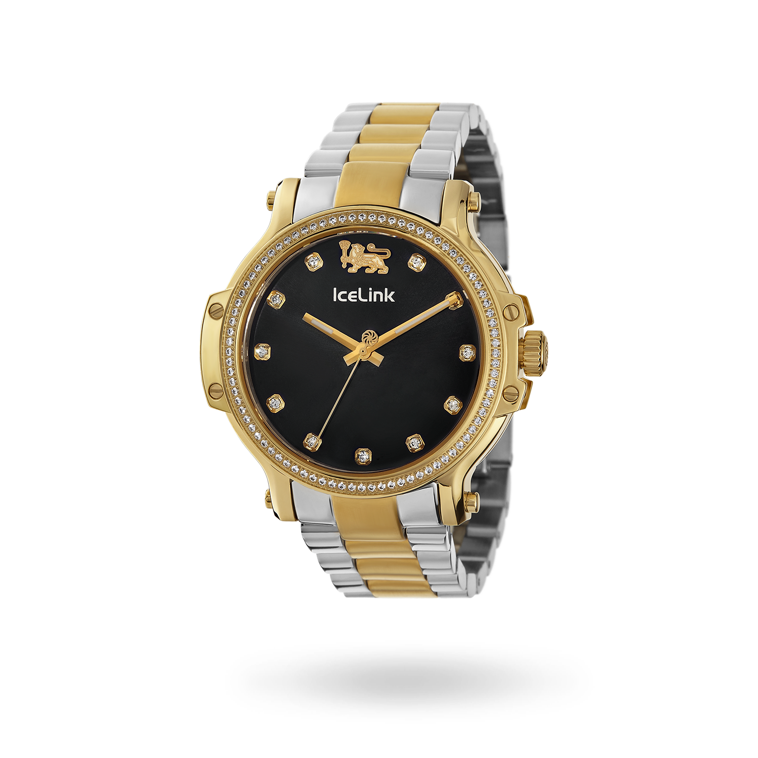 Diamond Gold & Black Two-Tone Cortina Watch