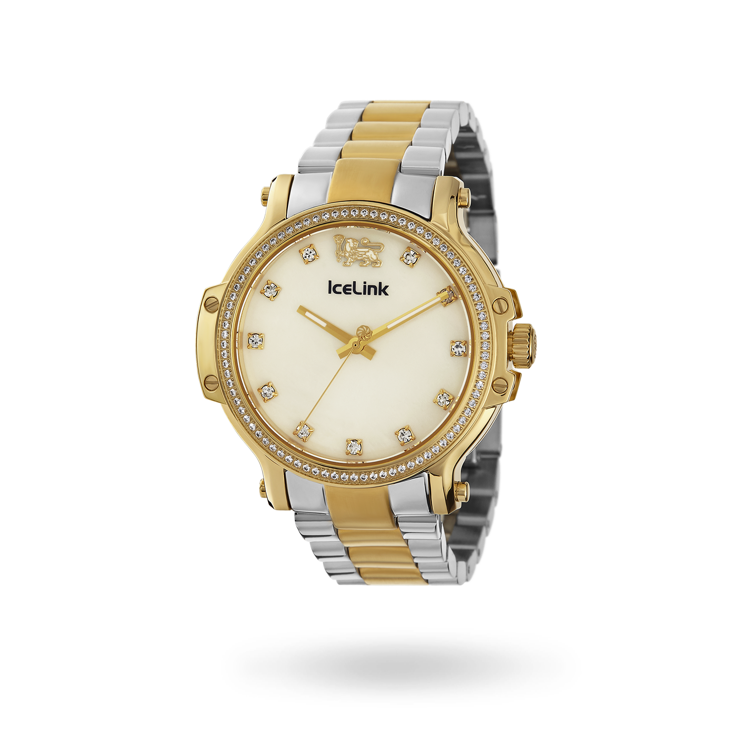 Diamond Gold & White Two-Tone Cortina Watch face