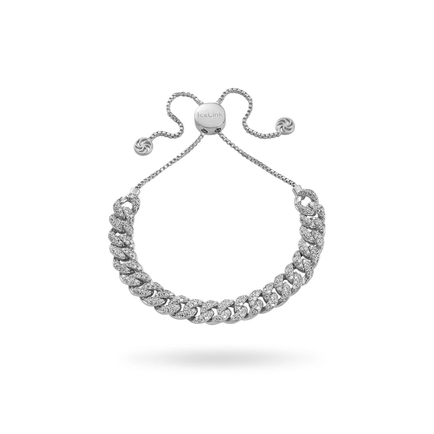 White Gold Cuban Bracelet