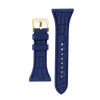 "Women's ""Siligator"" Straps 34MM Blue with Gold buckle"
