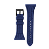 "Women's ""Siligator"" Straps 34MM Blue with Black buckle"