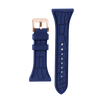 "Women's ""Siligator"" Straps 34MM Blue with Rose Gold buckle"