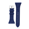 "Women's ""Siligator"" Straps 34MM Blue with Silver buckle"