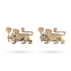 18K Rose Gold Lioness Cuff Links