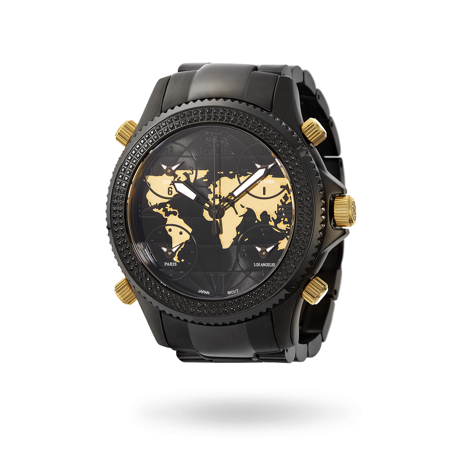 Marco Polo Black & Gold Watch