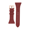 "Women's ""Siligator"" Straps 34MM Rust with Rose Gold buckle"
