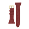 "Women's ""Siligator"" Straps 34MM Rust with Gold buckle"
