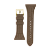 "Women's ""Siligator"" Straps 34MM Brown with Gold buckle"