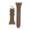 "Women's ""Siligator"" Straps 34MM Brown with Silver buckle"