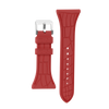 "Women's ""Siligator"" Straps 34MM Red with Silver buckle"