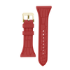 "Women's ""Siligator"" Straps 34MM Red with Gold buckle"