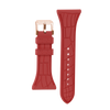 "Women's ""Siligator"" Straps 34MM Red with Rose Gold buckle"