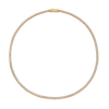 Display of entire 14K Gold Tennis Necklace 2.75mm