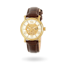 Whistler Gold & White with Brown Strap Watch - IceLink