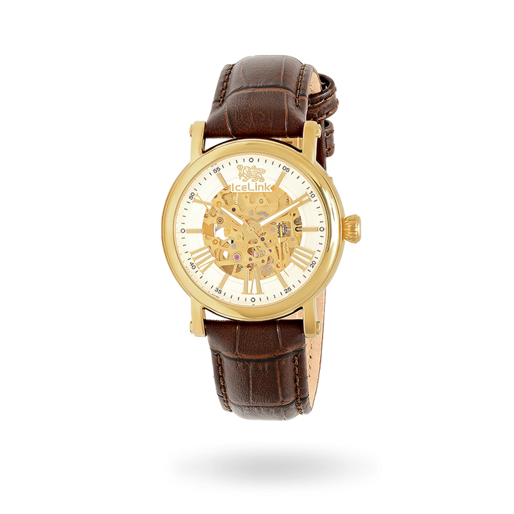 Whistler Gold & White with Brown Strap