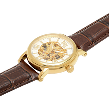 SAMPLE SALE Whistler Gold & White with Brown Strap Watch - IceLink