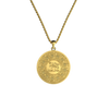 14K Gold Armenian Alphabet Pendant back side