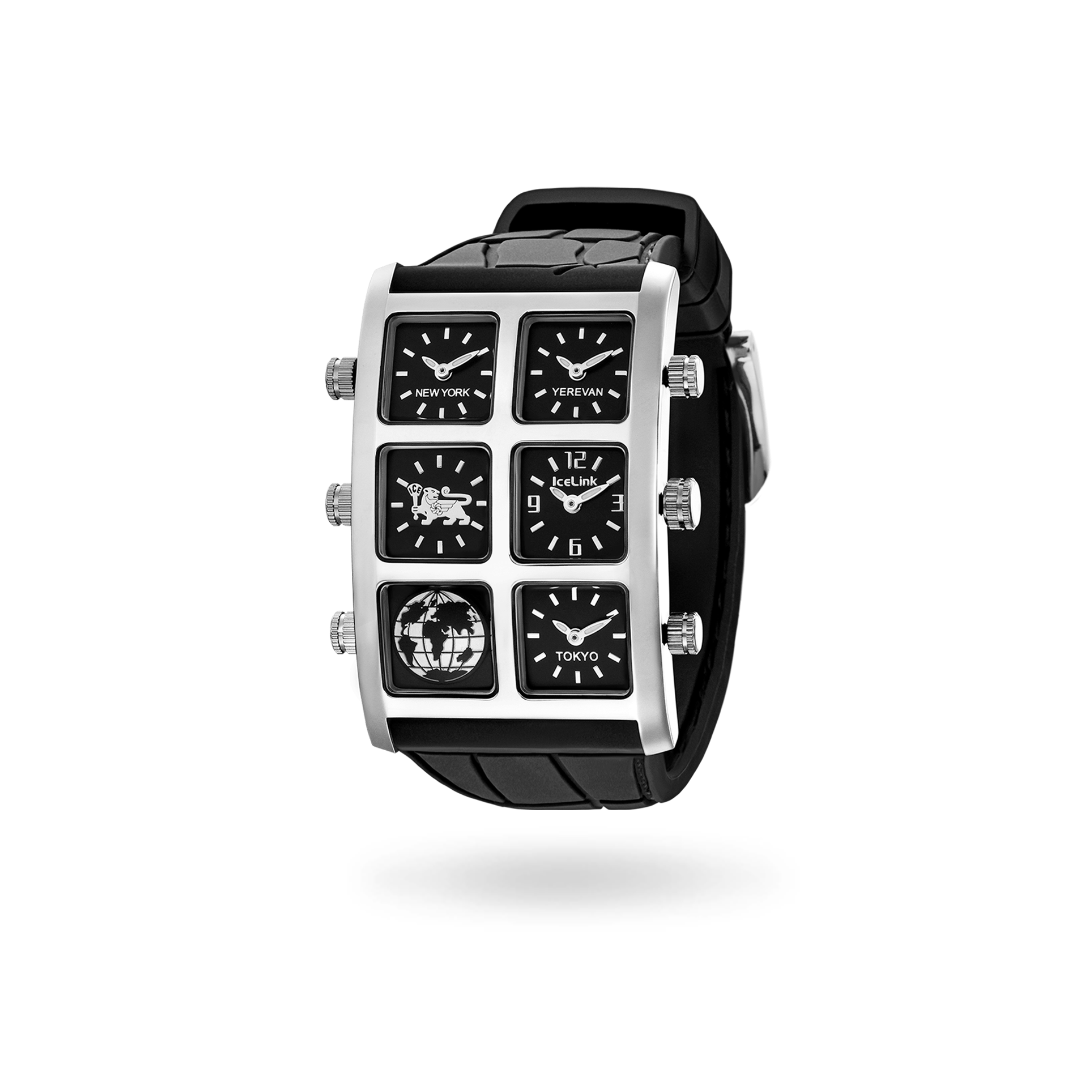 Merla 40mm Multi-Time Zone Watch face - IceLink